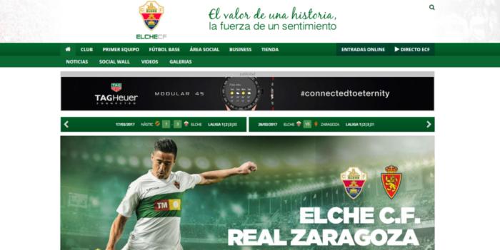 Diseño de páginas Web para equipos de fútbol. Desarrollo web para equipo 9b16896eff494