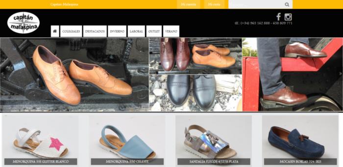 Diseño web para Zapaterias