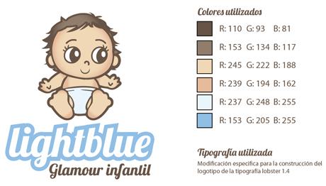 especificaciones logo azul Diseño de logotipos