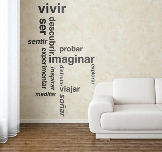 Dise o de vinilos personalizados para pared y dise o for Vinilos adhesivos para paredes de banos