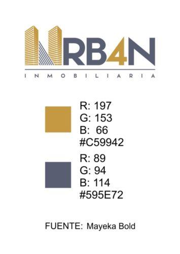 libro de colores Presentación logo Urb4n para inmobiliaria