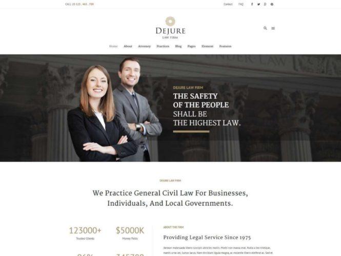 dejure tema plantilla wordpress abogados procuradores Los mejores temas wordpress para abogados