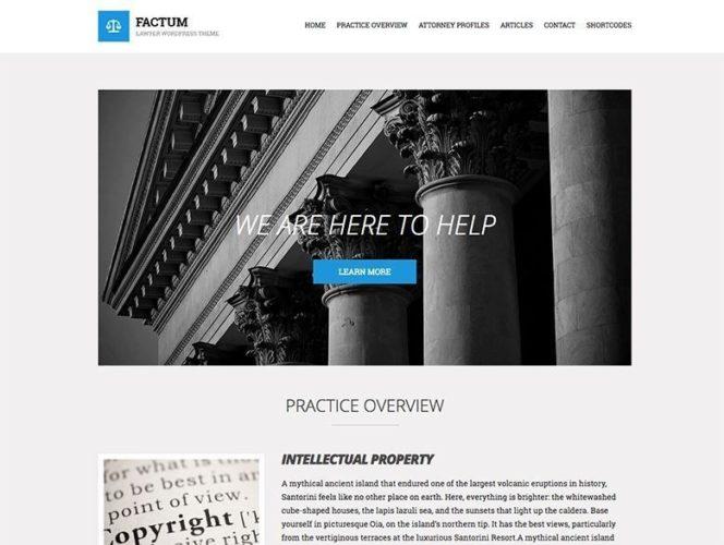 factum tema plantilla wordpress despacho abogados Los mejores temas wordpress para abogados
