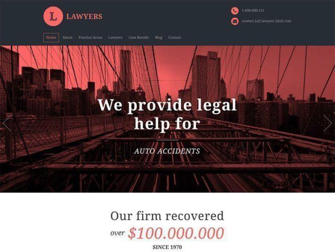 lawyers tema plantilla wordpress bufete abogados Los mejores temas wordpress para abogados