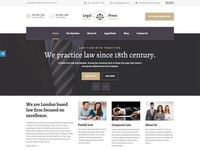 legalpress plantilla tema wordpress asesorias legales Los mejores temas wordpress para abogados