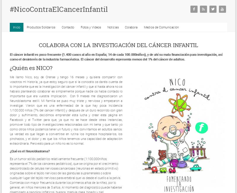 nicocontraelcancerinfantil Dominios .org gratis para ONGs