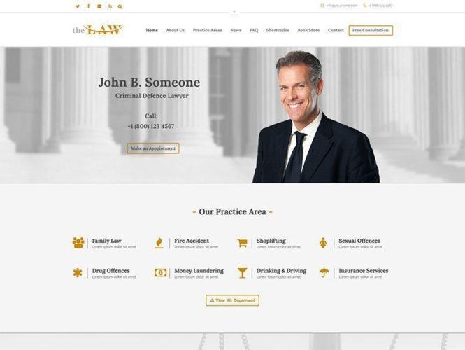the law plantilla tema wordpress bufete abogados Los mejores temas wordpress para abogados