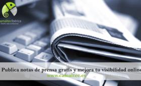 Publica notas de prensa gratis y mejora tu visibilidad online