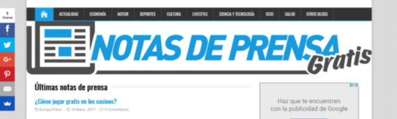 Presentación del blog de notasdeprensagratis.es