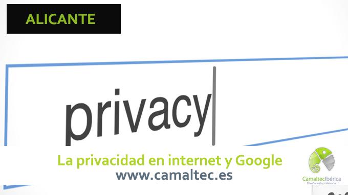 La privacidad en internet y Google Politica de privacidad para web
