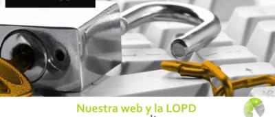Nuestra web y la LOPD 400x170 c Franquicia diseño web