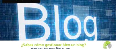 Sabes cómo gestionar bien un blog 400x170 c Franquicia diseño web