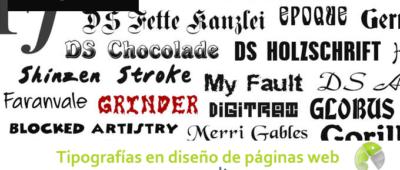 Tipografías en diseño de páginas web 400x170 c Franquicia diseño web