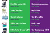 Folleto publicitario tipo Flyer para BabyTravel.es - Parte trasera