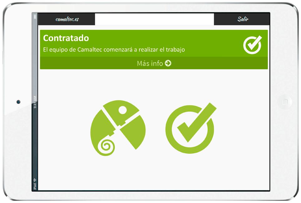 tablet camaltec App tablet de gestión comercial