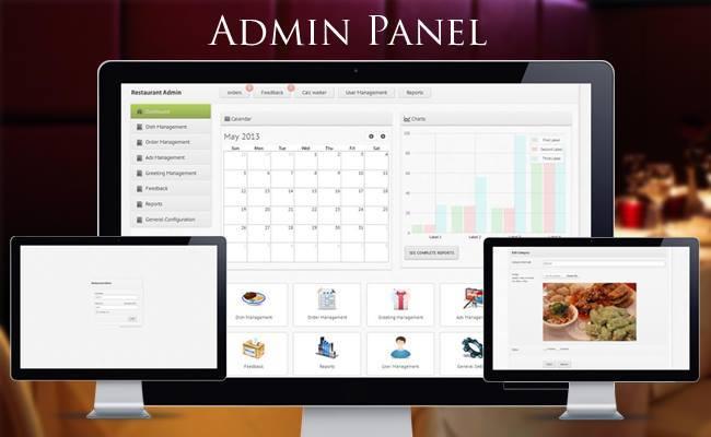 admin panel app restaurante Restaurantes