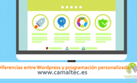 Diferencias entre Wordpress y programación personalizada 280x170 c Web Corporativa