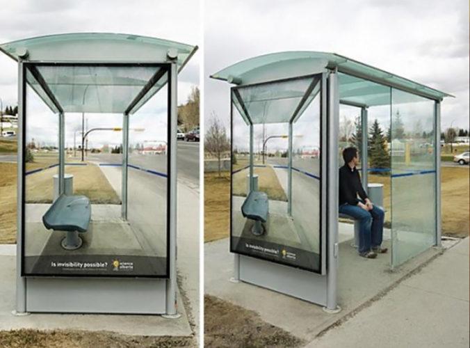 Creatividad en paradas de autobús 7 Creatividad en paradas de autobús