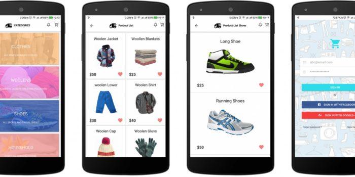 app ecommerce Aplicación móvil Tienda