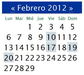 track calendar Sistema de Geolocalización
