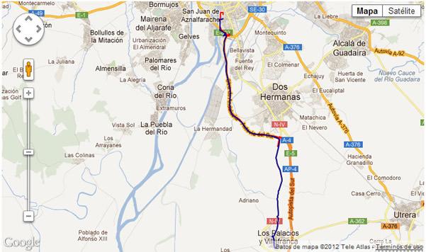 track route Sistema de Geolocalización