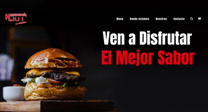 web para hamburgueseria Entregamos web para hamburgueseria en Tenerife